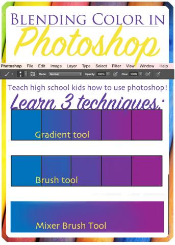 Blending color in photoshop