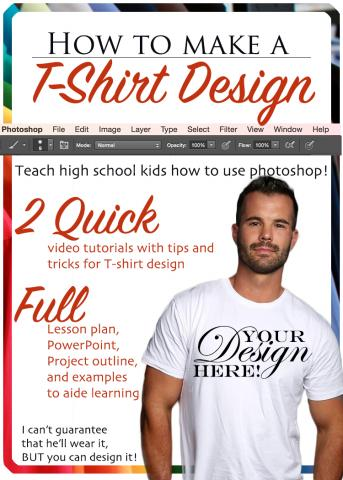 Tips and Tricks for T-Shirt Design! Use EITHER Photoshop or Illustrator, or both!