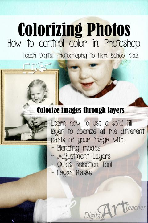 Learn how to colorize a black and white photo!