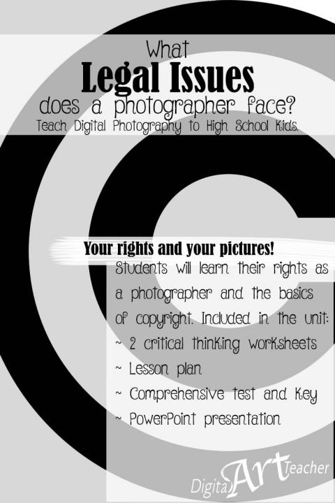 Teaching copyright and photographer's rights to high schoolers.