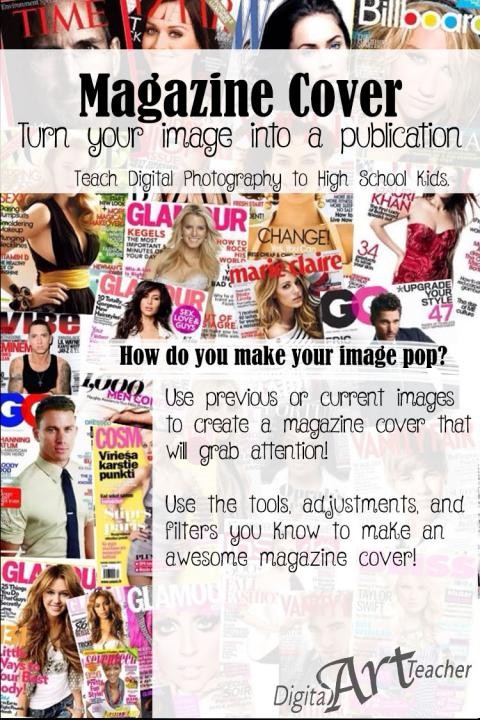 Create a Magazine cover with your own photography!