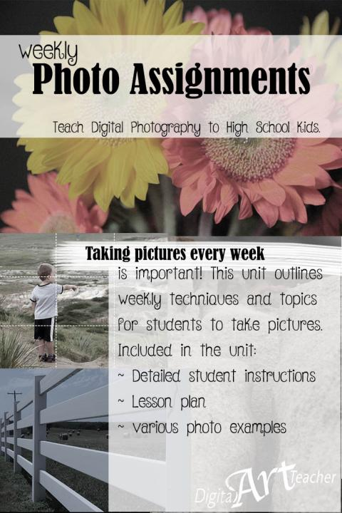 A LONG list of photo assignments designed for high school aged students.