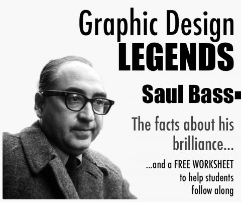 saul bass logos, saul bass, famous designer, free graphic design worksheet